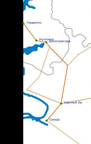 Карта-схема автодороги Р-178