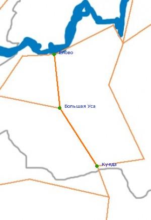 Карта-схема автодороги Елово -