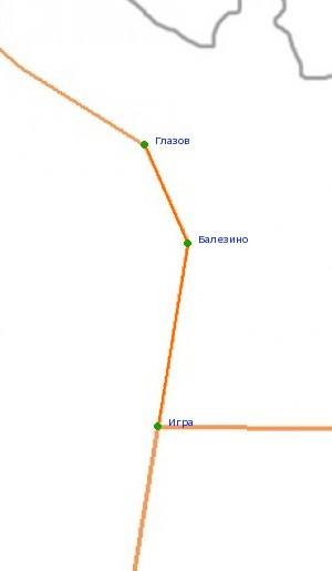 Карта-схема автодороги Глазов