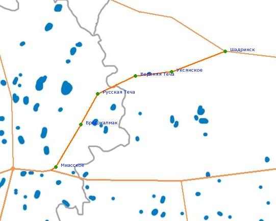 Карта-схема автодороги Р-330