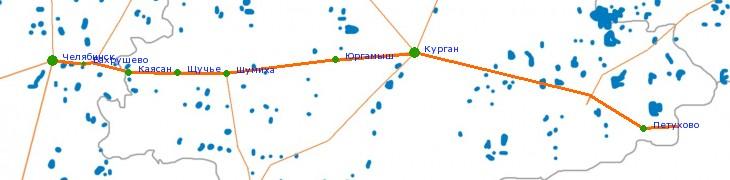 Карта-схема автодороги М-51