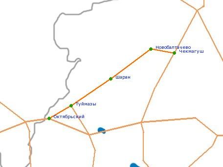 Карта-схема автодороги