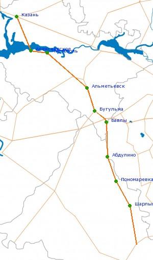 Карта-схема автодороги Р-239