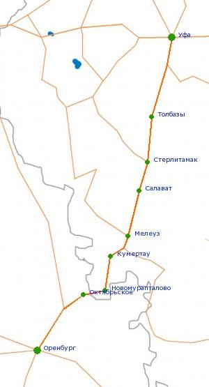 Карта-схема автодороги Р-314