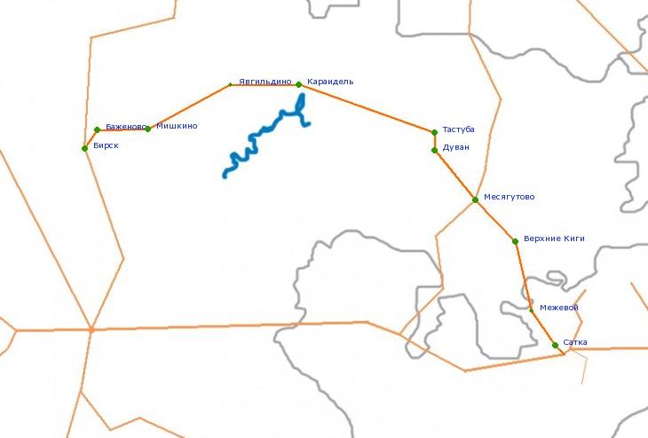Карта-схема автодороги Р-317