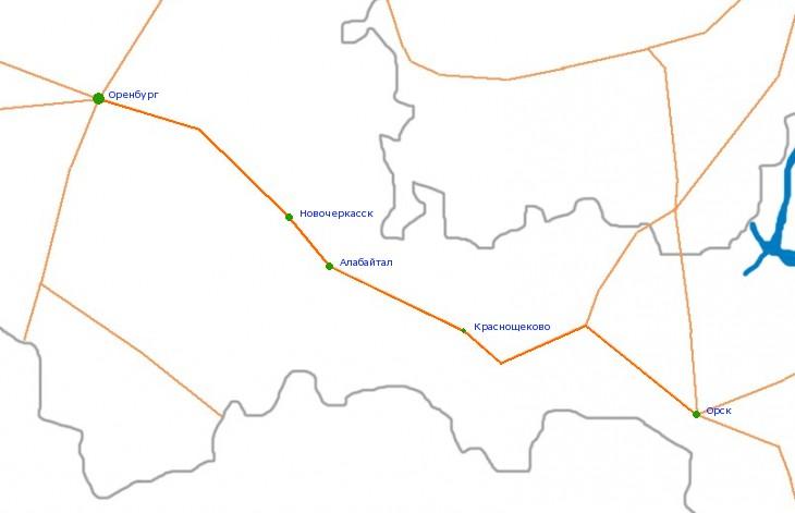 Карта-схема автодороги Р-336