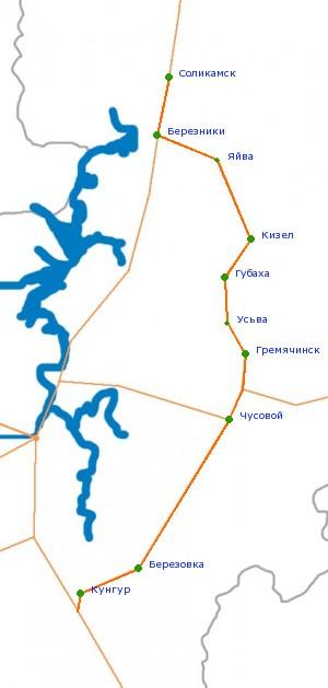 Карта-схема автодороги Р-343