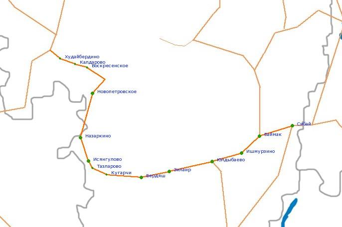 Карта-схема автодороги Р-361