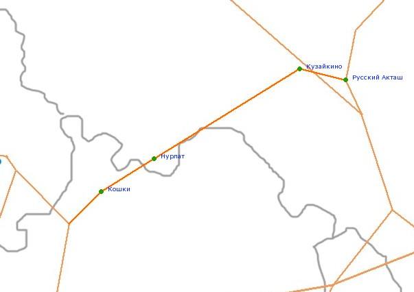Карта-схема автодороги Р-178,