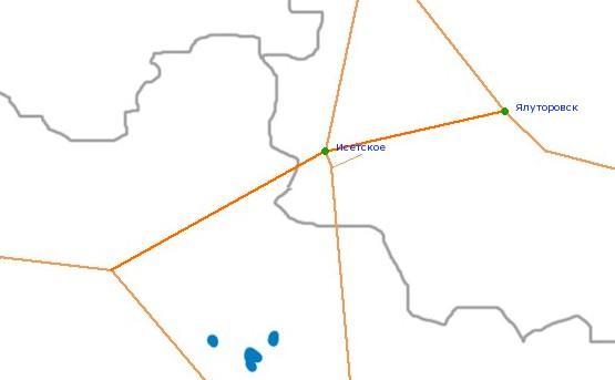Карта-схема автодороги Р-354,