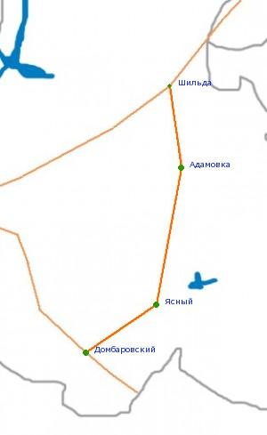 Карта-схема автодороги Шильда
