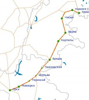 Орск-челябинск схема проезда